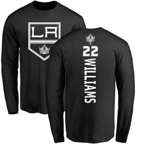 Tiger Williams Los Angeles Kings Men's Black Branded Backer Long Sleeve T-Shirt -